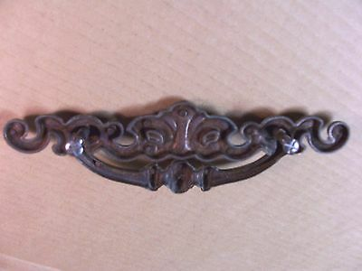 (2) Vintage Brass Finish Drawer Pulls / Handles -- Large -- W/ Original Screws