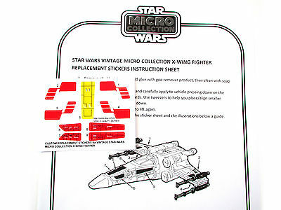 STAR WARS VINTAGE REPLACEMENT STICKER for MICRO COLLECTION Tie fighter /'Die Cut/'
