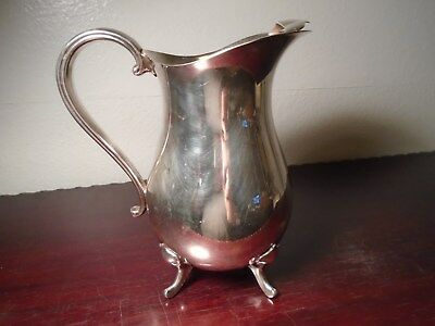 Vintage Gorham Newport Silverplate VB400 Water Pitcher with Ice Lip Beautiful A3 3