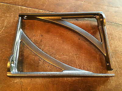 "Pair 6"" x 4"" SMALL INDUSTRIAL ANTIQUE CAST VICTORIAN SHELF BRACKETS ~ BR22p(x2) 6"