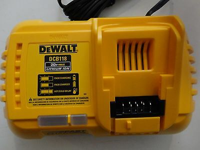 DEWALT DCB118 20V 60V MAX FLEXVOLT Lithium Ion Fan Cooled Fast Charger DCB118B 2