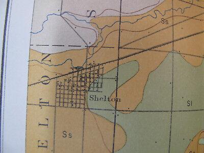 Color Soil Survey Map Grand Island Sheet Nebraska Shelton Wood River Abbott 1903 4