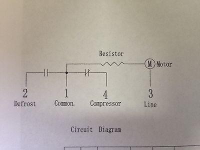Westinhouse Kelvinator Electrolux  Fridge Defrost Timer 8 Hr p/n 1448728  0501 2