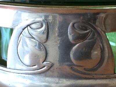Rare 1904 Art Nouveau Liberty & Co Archibald Knox Tudric/Glass 0320 Rosebowl 8