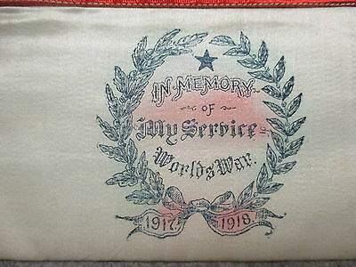 Victory In Memory Of My Service Worlds War WWI 1917-1918 Cloth Document Holder 4