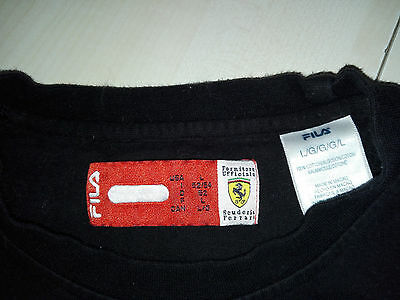 FILA Scuderia Ferrari Team Shirt L schwarz T-Shirt Formel 1 Formula 1