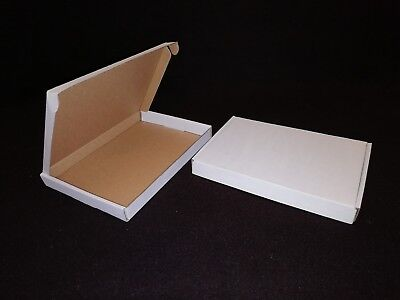 White Postal Cardboard Boxes Small Mailing Shipping Cartons Multi Listing PIP 8