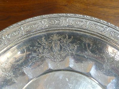 """Amazing Towle Sterling Silver Tray Charger Plate Old Master #6668 12"""" Wide 9"""