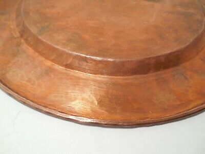 Vintage Arts & Crafts 12 inch Hammered Copper Plate 589 grams 6
