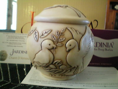 Harmony Ball Jardinia Kingdom Chant D'Amour Doves Marble Resin Lidded Jar NIB