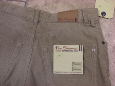 "Bnwt Boys Ben Sherman Cream Distressed Wash Bootcut Cords  Waist 27""  Leg R 8"