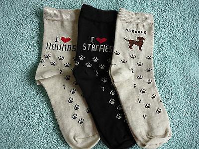 I Love HOUNDS Socks Beagle Bassett Bloodhound Greyhound Dachshund Wolfhound Elk 4