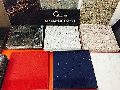Granite Bespoke cremation memorial stones,Grave Marker, Plaque 12mmx300mmx300mm 9