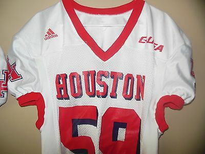 more photos 8e62a d88d8 HOUSTON COUGARS GAME Used Football Jersey