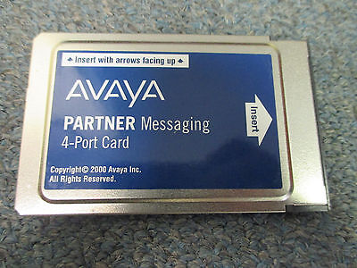Avaya Partner Messaging 4 Port R1.0 Voice Mail Module 108694316 539C10 W/ 515B1 2