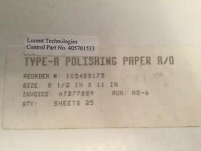 Lucent Technologies 3M Type A polishing Paper (25)And Type G(50) New Old Stock 2