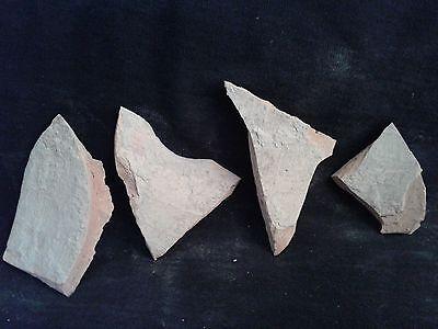 Ancient Teracotta 4 Shards Bronze Age 2000 BC     #JB103 4