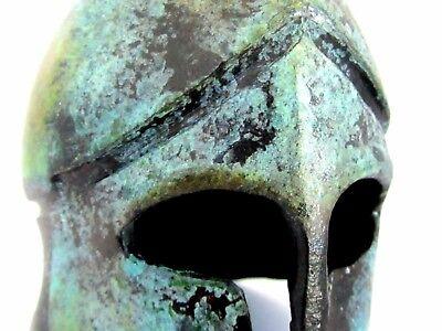 Ancient Greek Bronze Museum Replica of Corinthian Helmet (1378)