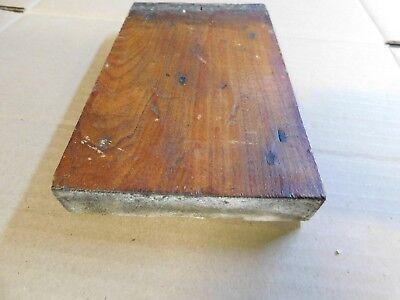 1800's Wooden BASE TRIM DOOR Plinth Block VICTORIAN Style Butternut ORNATE