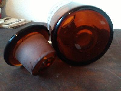 Apothekerflasche;Calc.chlorat.sicc..; 1 ltr.;braunglas;geschl. Stöpsel;Loft;Deco