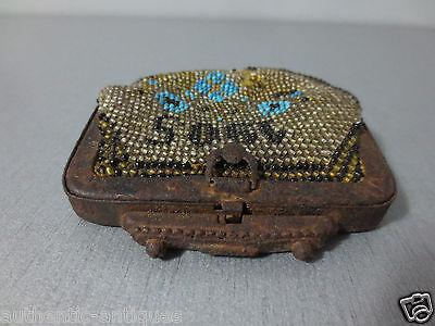 Antique Year 1905 Glass beads Coins PURSE Karakachans-Greece Macedonian RARE 5