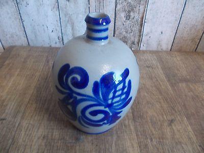 Westerwälder Tonflasche,Keramik Flasche,Salzglasur,Westerwald,Feldflasche 2