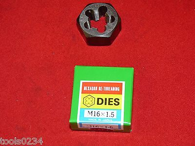 "M16 X 2.0 16MM LEFT HAND Metric 1.3/"" Hex Rethread Die Carbon Steel High Quality"