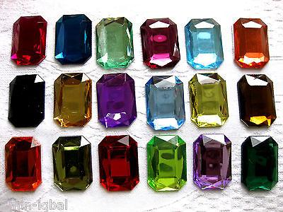 50 Acryl-Schmucksteine,mandelförmig,Farbe wählbar,10x14mm,zum Basteln,St 68