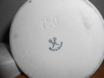 alte Salbendose Porzellan mit Deckel 60er Jahre 750 ml Apothekerdose UNGT. ZINCI 3