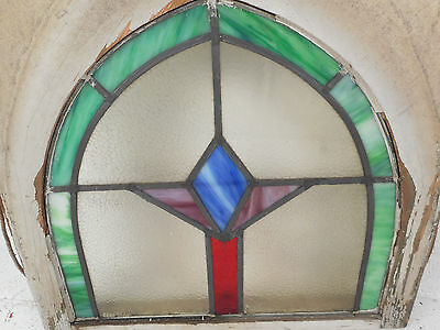 Vintage Art Deco Stained Glass Window Panel (3168)NJ
