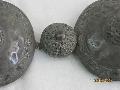 ANTIQUE SILVER WOMEN BELT BUCKLES MIDDLE EAST 18th CENTURY 6