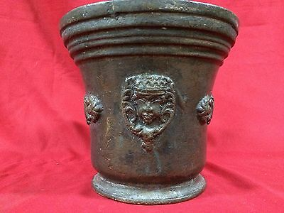 Huge Rare Antique European Bronze Mortar & Pestle Royal Aristrocatic Vase? King 4