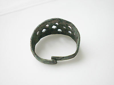 Great  ANCIENT Rare Viking Bronze FINGER RING   9-10 century AD 3