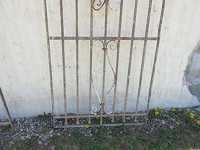 Antique Victorian Iron Gate Window Garden Fence Architectural Salvage Door #374 4
