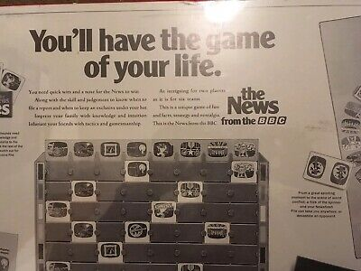 """Vintage New Sealed Board Game """"The News From The BBC""""  Great Games Company 1987 8"""