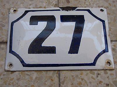 vintage PRE ISRAEL STATE PALESTINE  enamel porcelain number 27 house  sign # 27 2