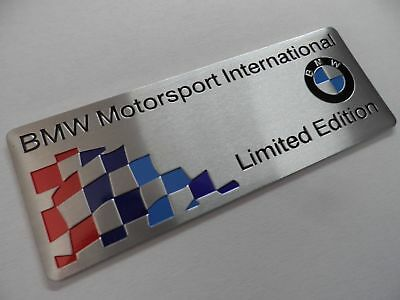 "BMW Motorsport, ""Limited Edition"",, M Power Performance Alu 3D Aufkleber Sticker 2"