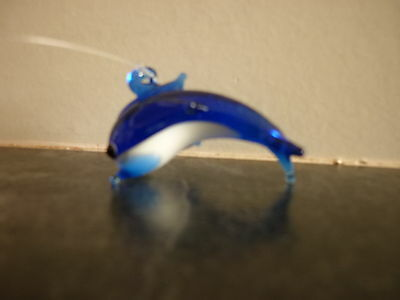 Pair Of New Octopus & Fish Glass Aquarium Charms 3