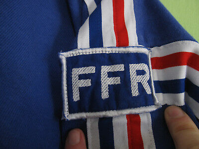39a7ab8b347f6 ... Maillot Rugby Adidas Equipe Quinze France Manche Longue vintage 80'S  Coton - XL 5