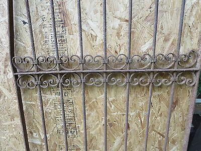 Antique Victorian Iron Gate Window Garden Fence Architectural Salvage Door U 6