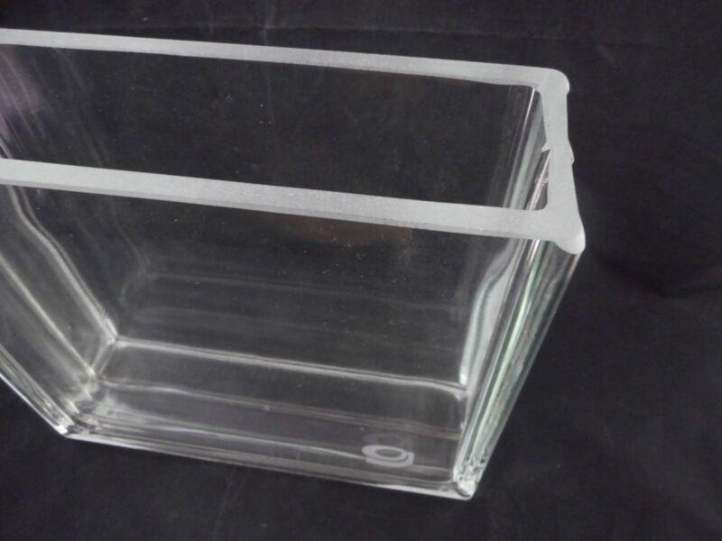 GENERAL GLASS BLOWING Rectangular Developing Tank 30 x 10 x 3cm w/ Flat Lid B 4