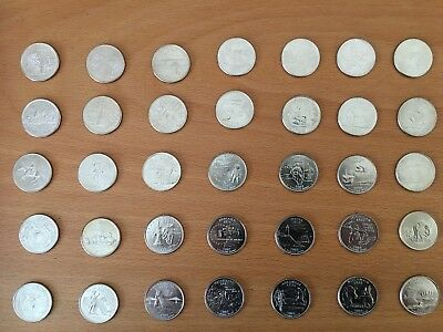 PICK ANY OF THE 50 US STATE QUARTERS P or D mint - UNCIRCULATED 2