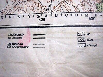 1937 Giurgiu Romania Institutul Geografic Militar Original Vintage Map 12