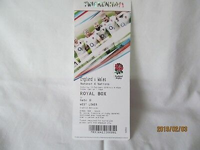 England v Wales. Rugby Union. Twickenham. Programme + Event Tickets. 3