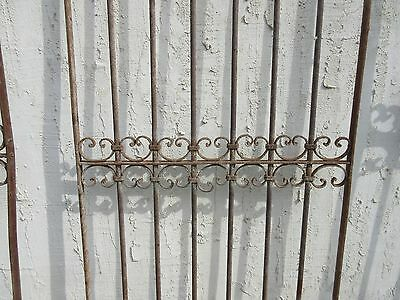 Antique Victorian Iron Gate Window Garden Fence Architectural Salvage Door #341 3