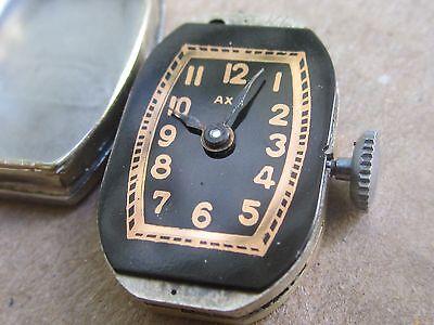 "WOW! NOS Art Deco Swiss Ladies'watch ""AXA""15j, -30s 2"