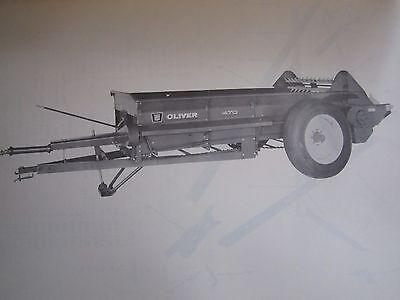 1962 oliver 470 pto manure spreader parts book manual 25 00