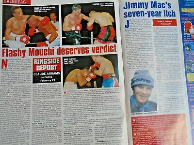 BOXING NEWS - 27 feb 1998 - eubank, mcdonnell, holyfield, lewis free p&p to uk 9
