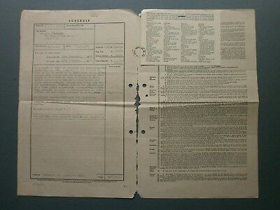 1953 Fire Insurance Policy A. B. Brassard, 37 King George Avenue, Haifa, Israel 2
