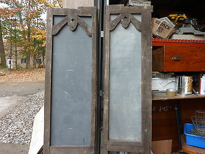 early 20th cent schoolhouse SLATE chalkboard FRAMED VICTORIAN porch screen 83x18 9